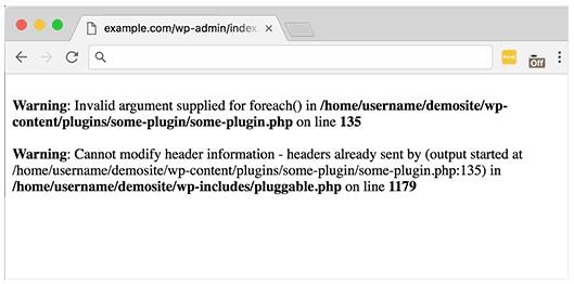 Ошибка PHP на сайте