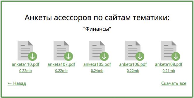 Анкеты реальных сайтов на Askusers.ru