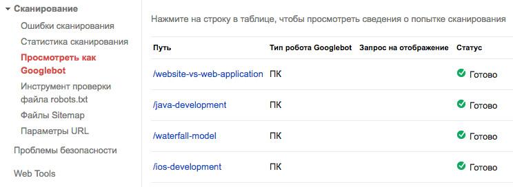 Добавить страницу в индекс Google