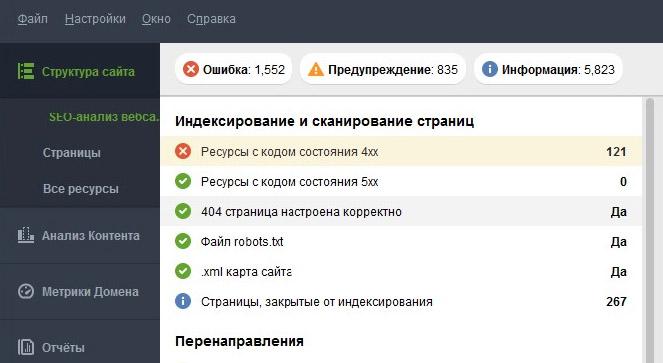 Технический анализ веб-сайта