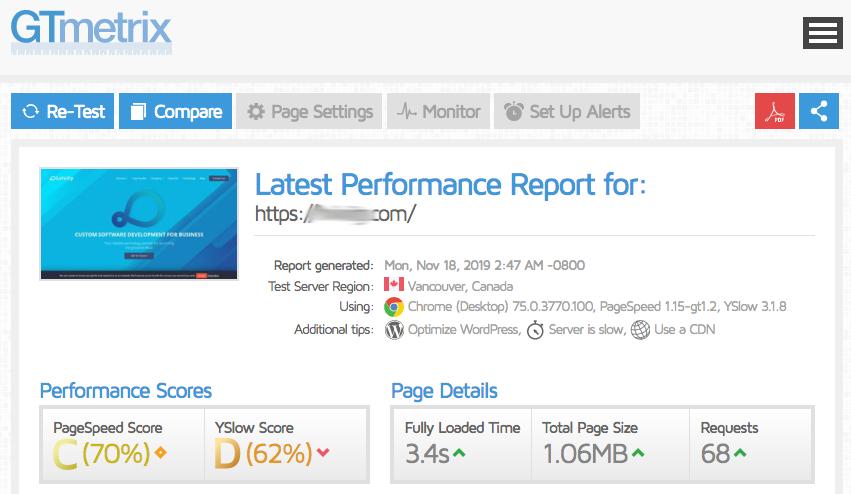Проверка скорости работы сайта