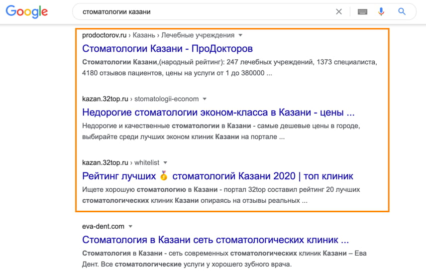 Агрегаторы в поисковой выдаче